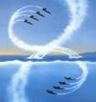 В небе над Новосибирском появилась странная восьмерка