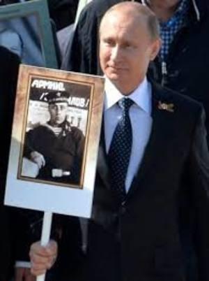Путин присоединился к участникамам акции «Бессмертный полк» в Москве