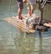Двух детей унесло в озеро на самодельном плоту в Карелии