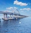 Беспилотник снял процесс установки арки моста через Керченский пролив