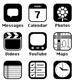 iOS 7: черный, белый, плоский