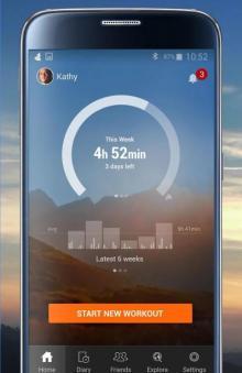 Приложение Sports Tracker — поделитесь спортивными достижениями