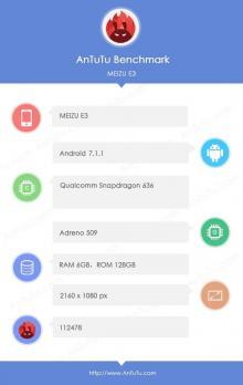 Meizu mblu E3: известны технические характеристики