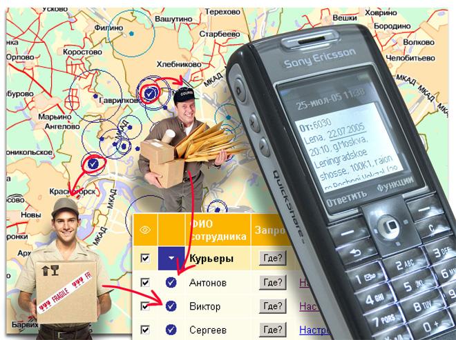 мобильный сервис определения местоположения