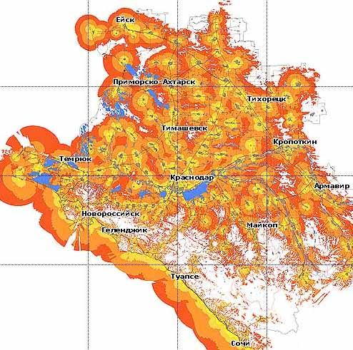 Карта Покрытия Мтс Краснодарский Край