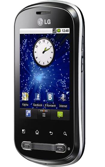 Дешевый Android-смартфон LG Optimus Me добрался до России
