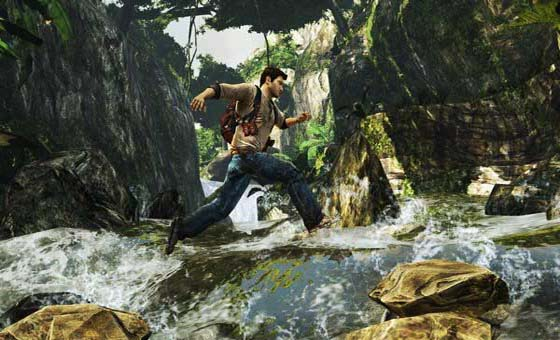 uncharted golden abyss PlayStation Vita at the start