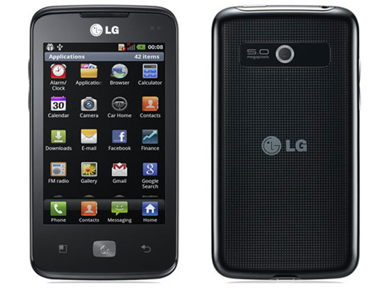 optimus hub The new, compact smartphone LG Optimus Hub (E510) 