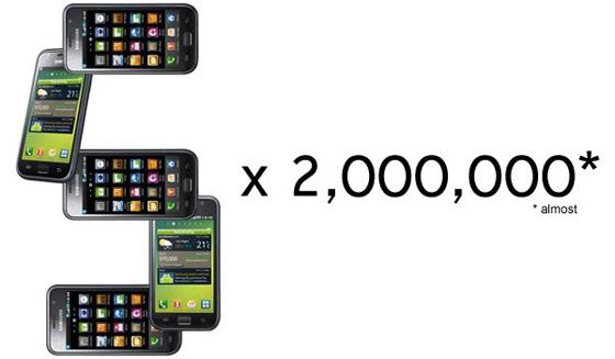 Продажи Samsung Galaxy S перевалили за 5 миллионов.