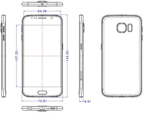 Всплывшие чертежи Galaxy S6