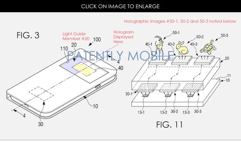 Samsung патентует смартфон с голографическими иконками