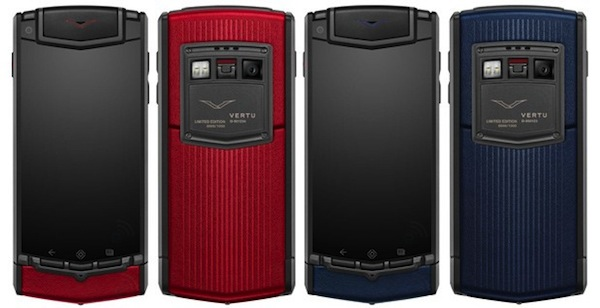 Vertu Ti выпущен ограниченным изданием в красном и синем цвете.  Всего 1000 штук будет сделано.