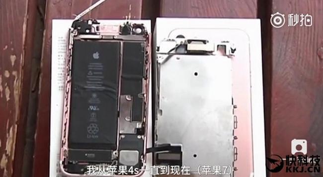 iPhone 7 загорелся