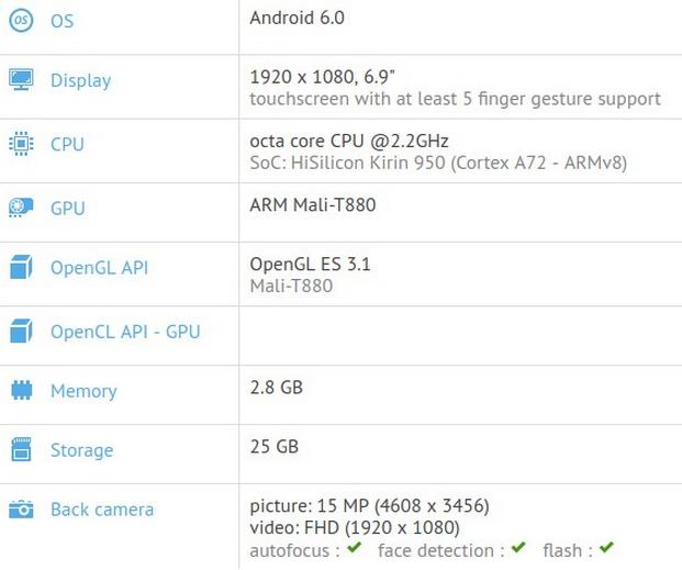 Android-смартфон Huawei P9 Max может получить 6.9-дюймовый дисплей
