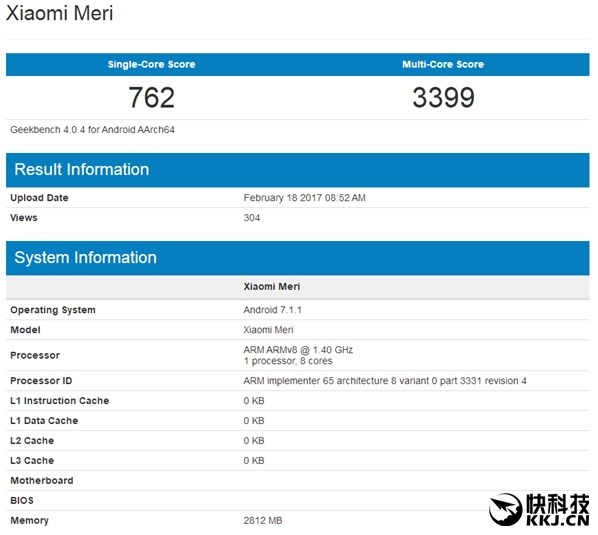 Xiaomi Mi5G прошел проверку вGeekbench