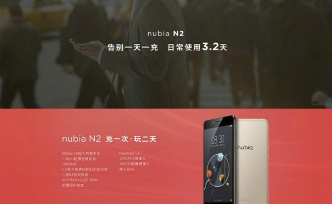 ZTE представила три телефона: Nubia M2, Nubia M2 Lite иNubia N