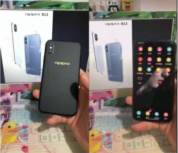 Oppo R13 встиле iPhone Xпоказался нафото