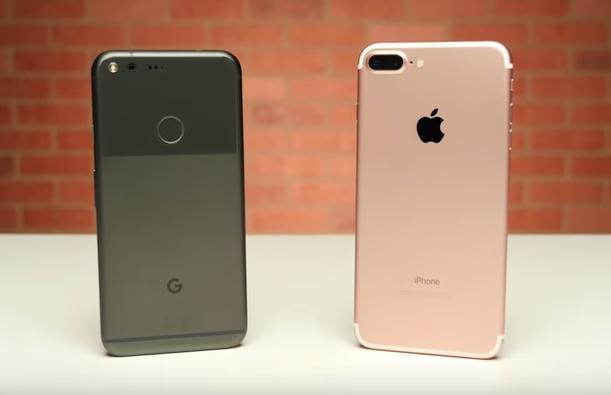 Cpa��e��e Google Pixel XL � iPhone 7 Plus