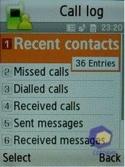 Скриншоты Samsung E840