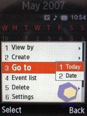 Скриншоты Samsung U300